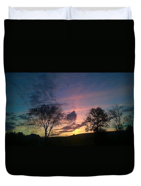 Sunset On Hunton Lane #12 Duvet Cover