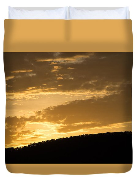 Sunset On Hunton Lane #4 Duvet Cover