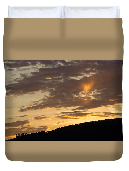 Sunset On Hunton Lane #5 The Heart Knows Duvet Cover