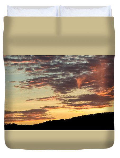 Sunset On Hunton Lane #6 In The Company Of Angels Duvet Cover