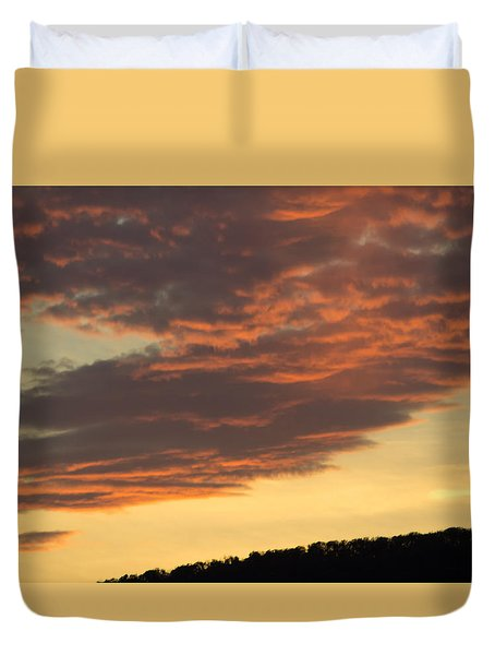 Sunset On Hunton Lane #7 Duvet Cover