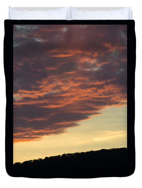 Sunset On Hunton Lane #8 Duvet Cover by Carlee Ojeda