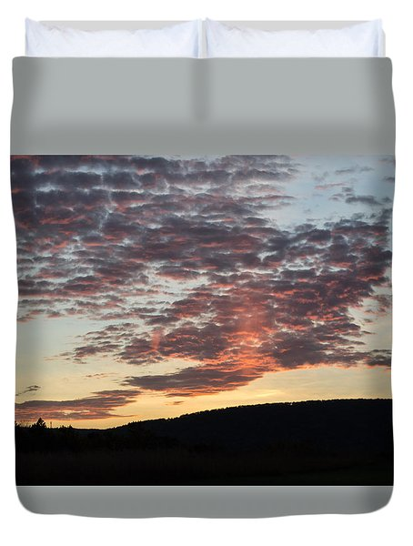 Sunset On Hunton Lane #9 Duvet Cover