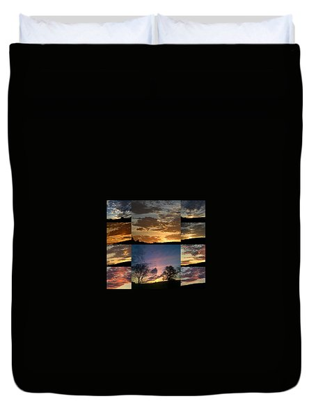 Sunset On Hunton Lane Duvet Cover