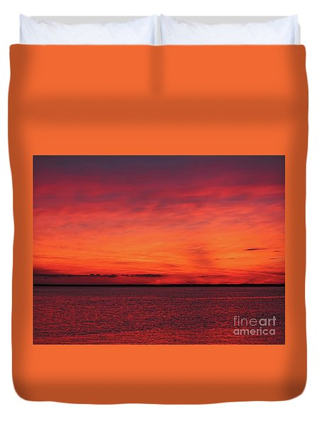Sunset On Jersey Shore Duvet Cover