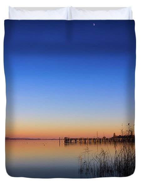 Sunset On Lake Constance II Duvet Cover by Bernd Laeschke
