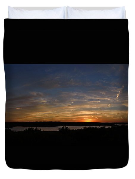 Sunset On Lake Georgetown Duvet Cover