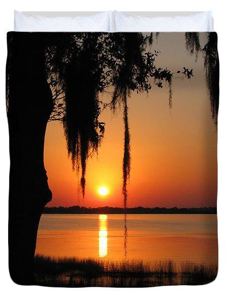 Sunset On Lake Minneola Duvet Cover
