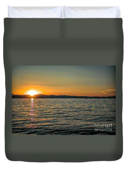 Sunset On Left Duvet Cover