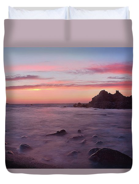 Sunset On Monterey Bay Duvet Cover