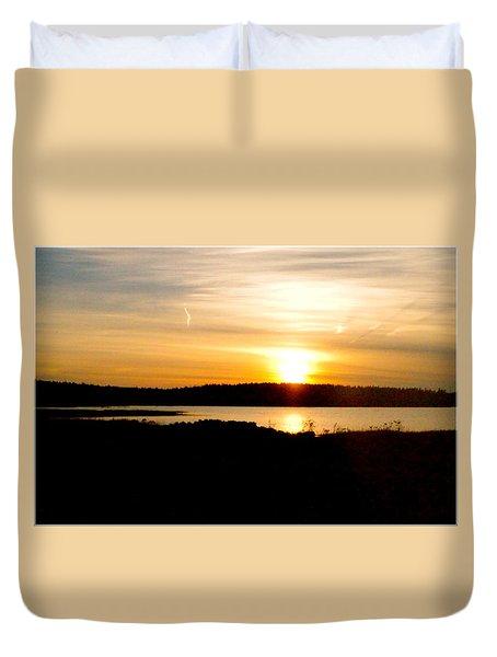Sunset On Morrison Beach Duvet Cover