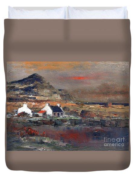Sunset On Mount Errigal, Dunegal Duvet Cover