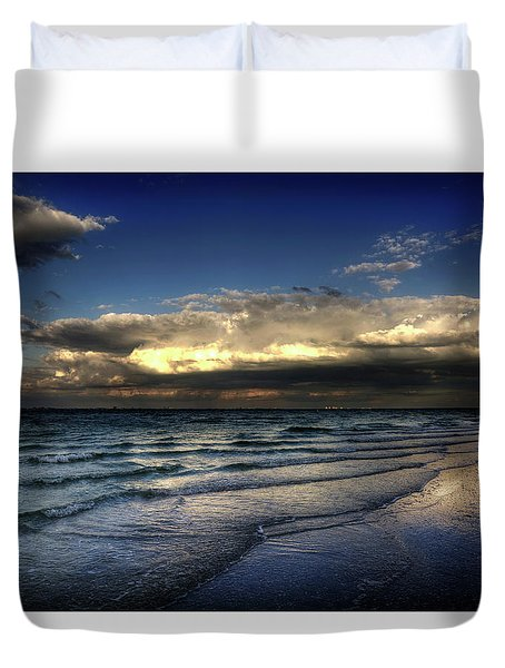 Sunset On Sanibel Duvet Cover