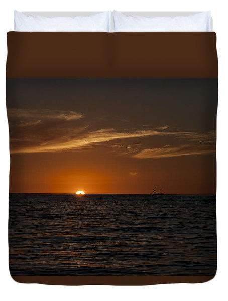 Sunset On Sea Of Cortez Duvet Cover by Ivete Basso Photography
