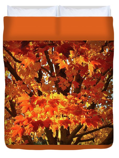 Duvet Cover featuring the photograph Sunset On Sugar Maple by Ray Mathis