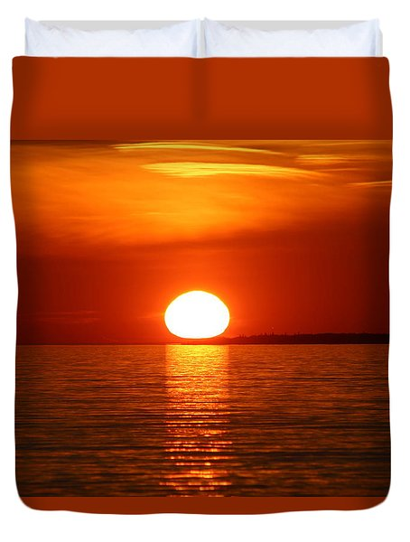 Sunset On Superior Duvet Cover