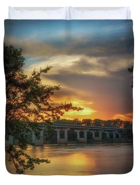 Sunset On The Arkansas Duvet Cover