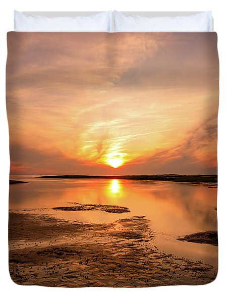 Sunset On The Cape Duvet Cover