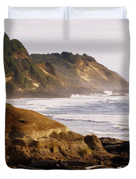 Sunset On The Coast Duvet Cover by Marty Koch