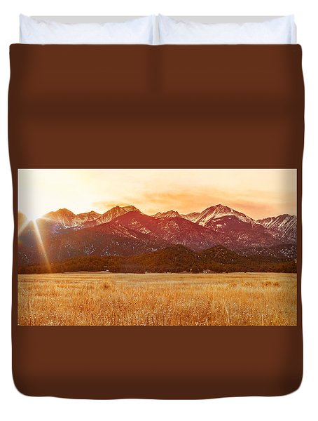 Sunset On The Continental Divide Duvet Cover