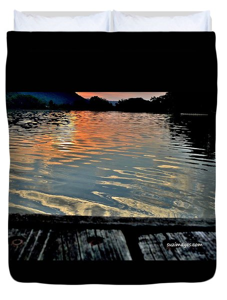 Sunset On The Dock 2 Duvet Cover
