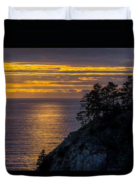 Sunset On The Edge Duvet Cover