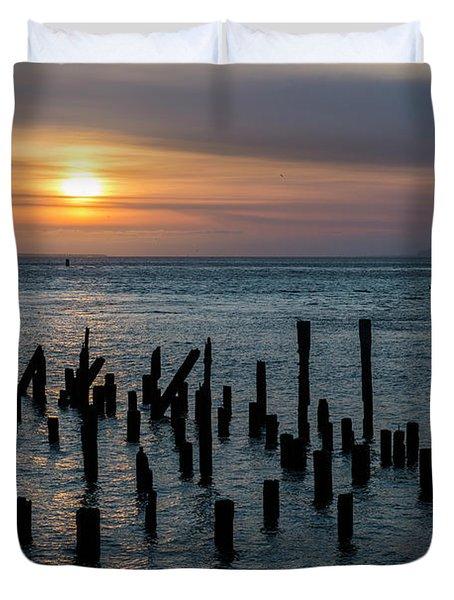 Sunset On The Empire Duvet Cover