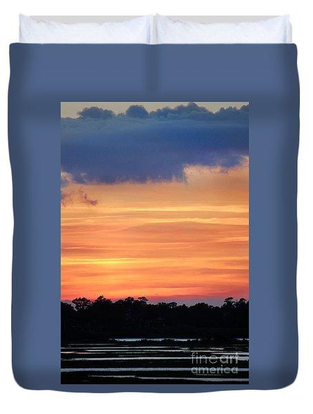Sunset On The Marsh Duvet Cover