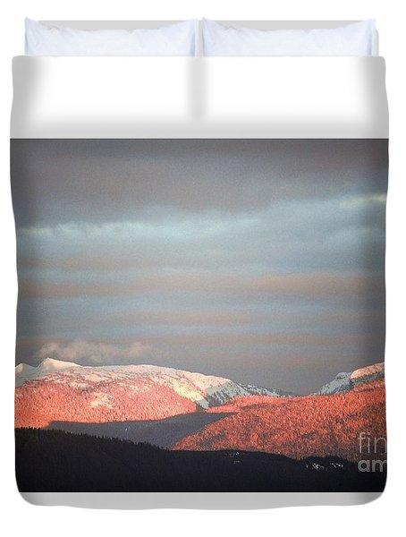 Sunset On The Monashees Duvet Cover