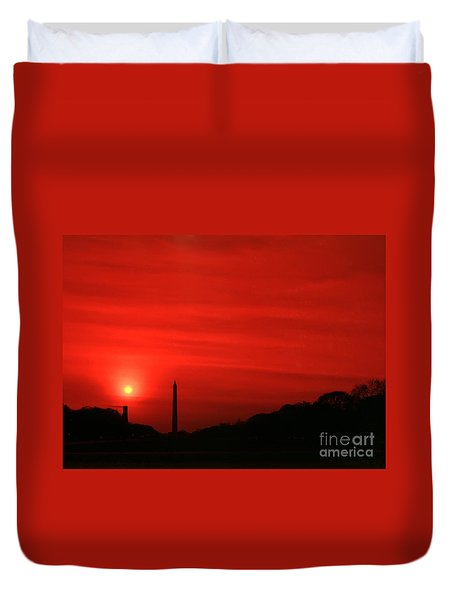 Sunset On The National Mall Washington Dc Duvet Cover