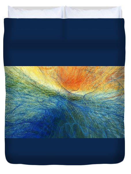 Sunset On The Ocean Duvet Cover by Constance Krejci