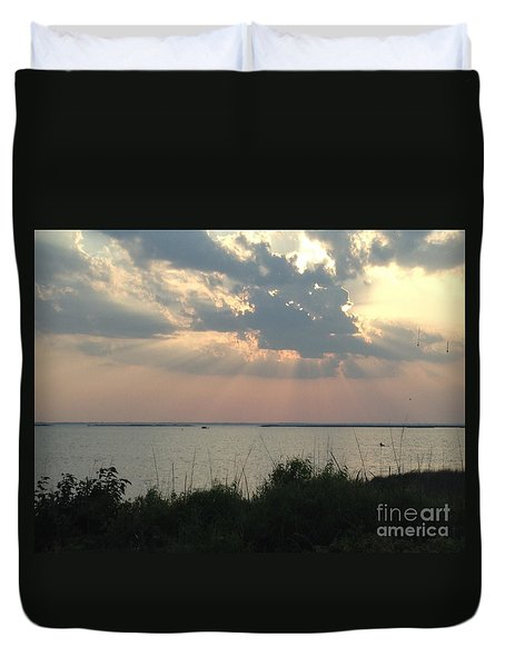 Sunset On The Outer Banks Duvet Cover