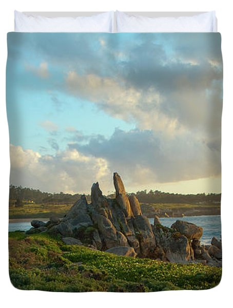 Sunset On The Pacific Ocean  Duvet Cover