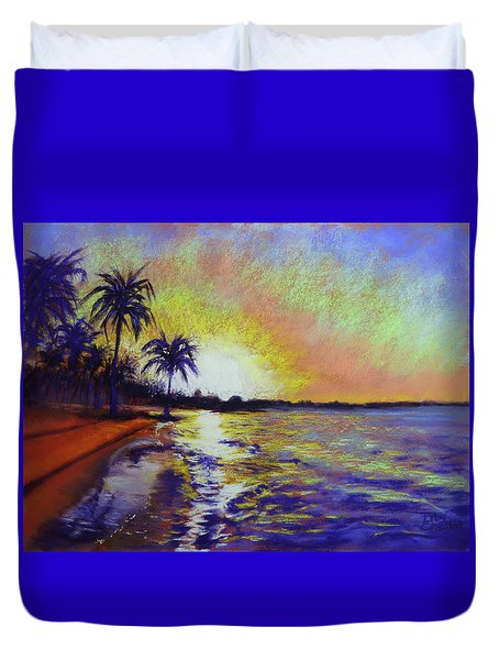 Sunset On The Sea Duvet Cover