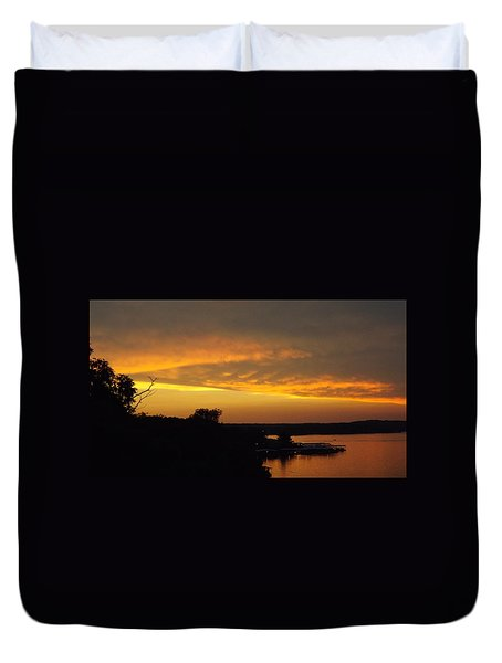 Sunset On The Shore  Duvet Cover