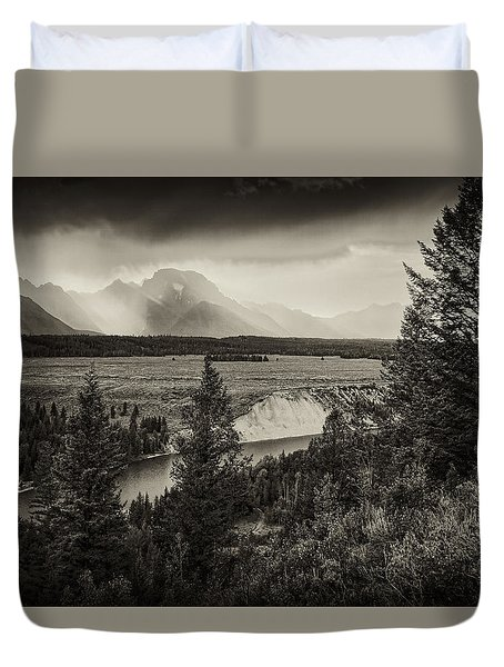 Sunset On The Snake River Duvet Cover
