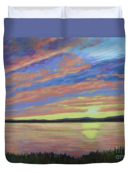 Sunset On The South Shore  Duvet Cover