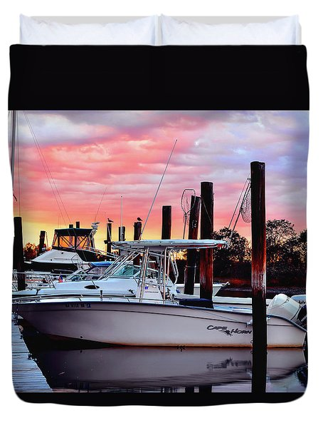Sunset On The Water Duvet Cover