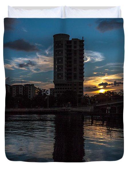 Sunset On The Water Duvet Cover