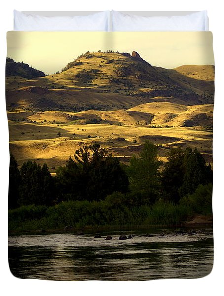 Sunset On The Yellowstone Duvet Cover by Marty Koch
