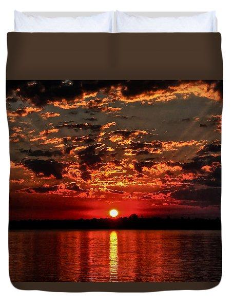 Sunset On The Zambezi Duvet Cover