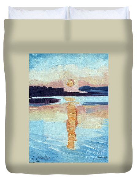 Sunset On Vancouver Island Duvet Cover