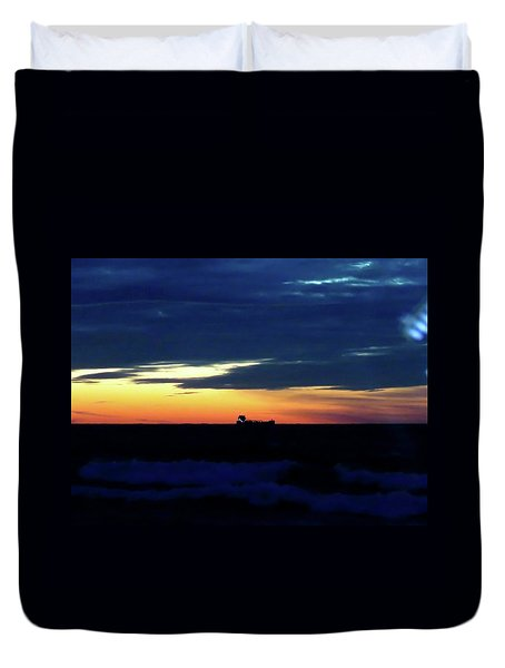 Sunset On Winter Solstice Eve Duvet Cover