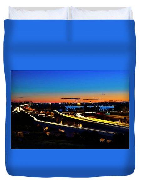 Sunset Over 495 Duvet Cover