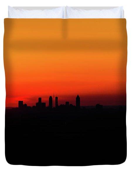 Sunset Over Atlanta Duvet Cover