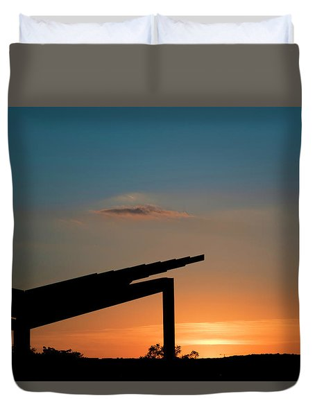 Sunset Over Austin City Limits Festival Week One 2017 Duvet Cover
