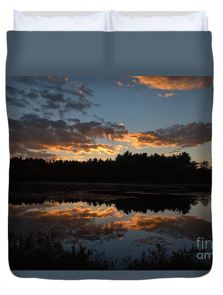 Sunset Over Cranberry Bogs Duvet Cover
