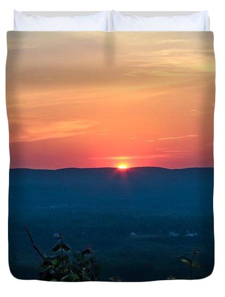 Sunset Over Easthampton Duvet Cover