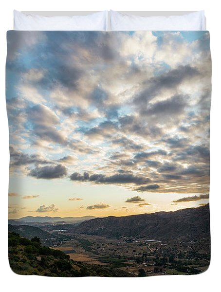 Sunset Over El Monte Valley Duvet Cover