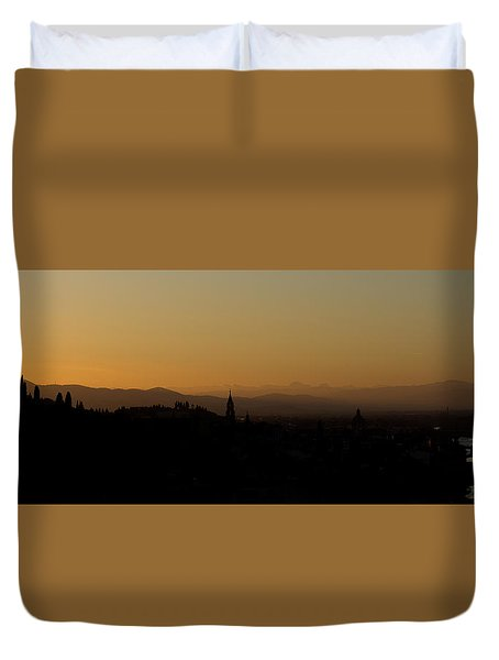 Sunset Over Florence Duvet Cover
